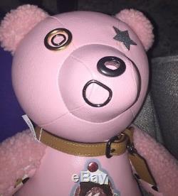 COACH 15 STAR Teddy Bear Pink Ice Cream Sundae Leather $600 LIMITED EDITION NEW