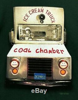 COAL CHAMBER Original Vintage 90's 1997 T-Shirt L Ice Cream Truck Nu Metal
