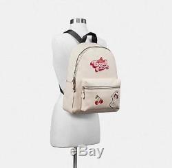 Coach F25910 Charlie Backpack American Dreaming Motif Ice Cream Cherries NWT