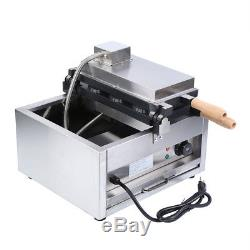 Commercial Nonstick 110V Electric 3pcs Fish Waffle Ice Cream Taiyaki Maker Cook