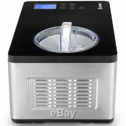 Costway Ice Cream Maker Automatic Stainless Steel Electric Countertop Large Frui