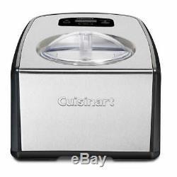 Cuisinart ICE-100 Compresso Ice Cream and Gelato Maker Silver Small, Extra Large