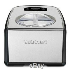 Cuisinart ICE-100 Compresso Ice Cream and Gelato Maker Silver Small, Extra Large