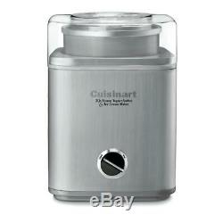 Cuisinart Ice Cream Maker Stainless Steel Fully Automatic Motor Large Spout 2 Qt