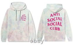 DS Anti Social Social Club ASSC Pink logo Ice Cream Paint Job Hoodie in hand
