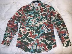 DS NWT Billionaire Boys Club BAPE BBC IceCream BB Rings L/S Woven Shirt L Rare