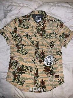 DS NWT Billionaire Boys Club BAPE BBC IceCream Gardens S/S Woven Floral Shirt L