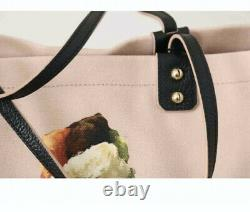 Dolce & Gabbana Pink Ice Cream Print Cotton Large Shopping Hand Tote Shopper Bag