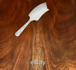 - Durgin Large Solid Sterling Silver Ice Cream / Cake Slice Scroll 1886 No Mono