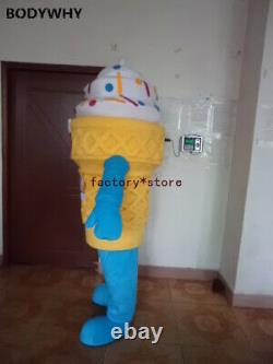 Fashionable Deluxe Ice Cream Mascot Costume Suits Cosplay Party Game Outfits Ad