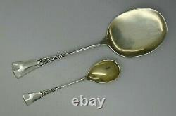 GERMAN 800 SILVER 13pc LARGE ICE CREAM SET FITTED BOX ART NOUVEAU JOHAN BECK