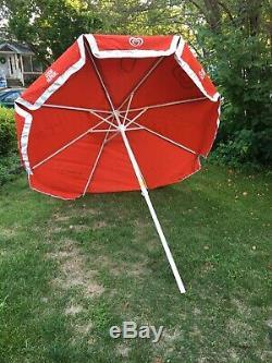 Good Humor Ice Cream Vintage Vendor Cart Patio Sun Shade 8 Large Beach Umbrella