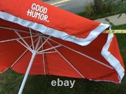 Good Humor Patio Large Sun Shade 8 Beach Umbrella Ice Cream Vintage Vendor Cart