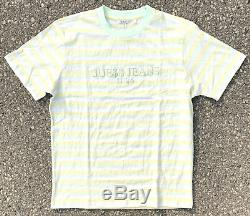 Guess x Asap Rocky'Ice Cream & Cotton Candy' Green Yellow Stripes T-shirt