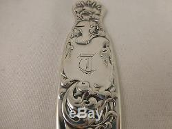 Heraldic-Whiting All Sterling Large Ice Cream Slice MONO T- 12-7/8