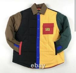 ICECREAM CALVARY JACKET Button Up Puffer Quilted Multicolor Size Large Brand New