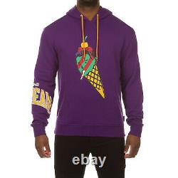 ICECREAM Mens Cone Man Printed Pullover Hoodie Classic Cotton Fleece Sweatshirt