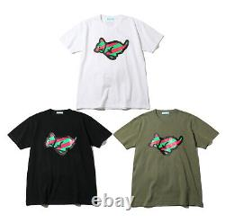 ICECREAM RUN DOG Men's S/S Tee Black / White / Olive 3colors From Japan New