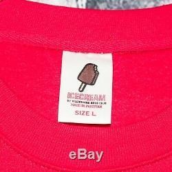ICE CREAM by Billionaire Boys Club Crew Neck Sweater Red Single Scoop Sz Large