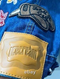 Ice Cream BBC Corduroy Collar Patch Denim/Jean Jacket Size Large