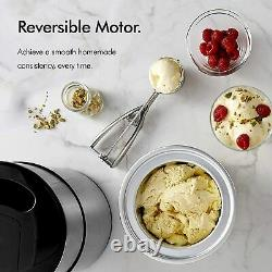 Ice Cream Maker Machine with Large 2L Removable Inner Bowl and Stainless VonShef