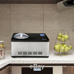 Ice Cream Maker with LCD Timer Control 2.1 Quart Large Capacity Low Noise
