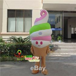 Ice Cream Mascot Adversting Costume Drink Parade Restaurant Dress Halloween New
