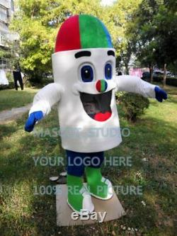 Ice Cream Mascot Costume Suit Cosplay Party Game Dress Outfit Halloween Adult