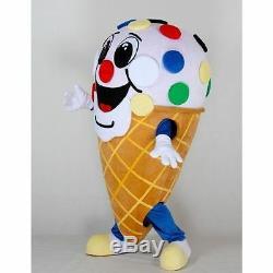 Ice Cream Shop Cone Mascot Advertising party Costume Restaurant Sale Adult Suit