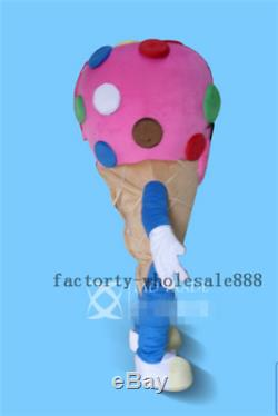 Ice Cream Shop Cone Mascot Party Costume Advertising Restaurant Sale Adults Suit
