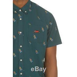 Icecream Lift Short Sleeve Woven Shirt in Deep Teal 491-2600