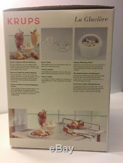 KRUPS 358-70 Large, 1.5 Quarts Capacity Ice Cream Maker, White