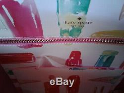 Kate Spade Large Len Tote Ice Cream Popsicles Shopper Bag withHanging Heart