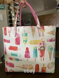 Kate Spade Large Tote Bag with Popsicles and Ice Cream