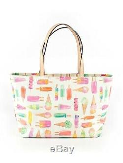 Kate Spade New York Ice Cream Popsicles RARE'Flavor of the Month' Francis Tote