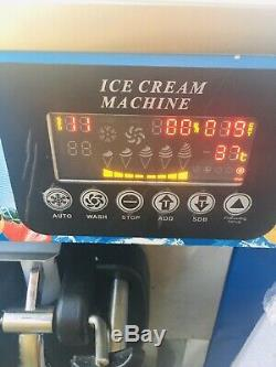 LED Screen Commercial 3 Flavors Soft Served Ice Cream Machine Large