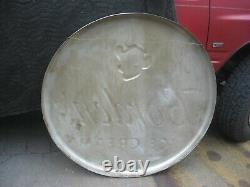Large 40 Inch Aluminum Metal Borden Elsie The Cow Ice Cream Button Sign