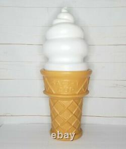 Large Blow Mold Ice Cream Cone Vanilla Swirl Safe-T Cup 26 Inch Display Bank