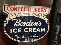 Large Ice Cream Double Sided Porcelain Sign