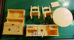 Large Lot of Calico Critters House, Ice Cream Truck, Burger Shop Furniture and F
