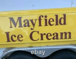 Large Mayfield Ice Cream Dairy Cow Farm Sign Plastic Nice 8 feet long RARE