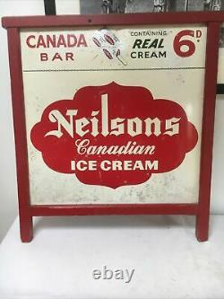Large Metal Vintage Neilsons Ice Cream Sign 67x77cm