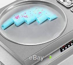 Large Square Fry Pan Electric Thai Fried Yogurt Ice Cream Roll Machine Maker