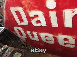 Large Vintage Dairy Queen Ice Cream Drive-in Plastic One Sided Sign 117 X 74