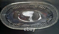 Large Vintage Signed Rare LIBBEY RADIANT PATTERN GLASS ICE CREAM BOWL c. 1920