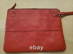 Lizzie Fortunato Jewles Red Leather and Ice Cream Navy Large Wristlet