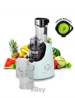 Masticating Juicer Extractor with Ice Cream Maker Function. 3.4 inch Large Chute