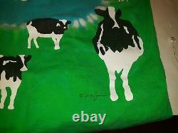 Men's Vintage Ben & Jerry's Euphoria Ice Cream Dairy Cows Tie-Dye Shirt 22 X 26