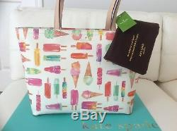 NWT Kate Spade Flavor of the Month Ice Cream Francis Tote Bag Popsicles LAST 1