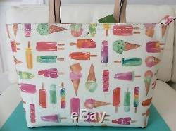 NWT Kate Spade Flavor of the Month Ice Cream Francis Tote Bag with Popsicles
